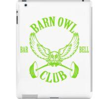 Barn Owl Barbell Club Green iPad Case/Skin