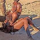 Himba girl, Namibia, Africa by Margaret  Hyde