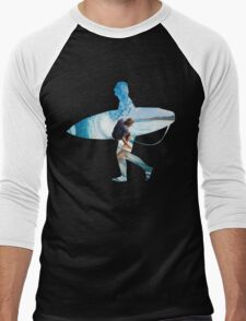 Surfer black version Men's Baseball ¾ T-Shirt