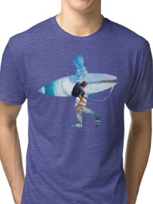 Surfer black version Tri-blend T-Shirt