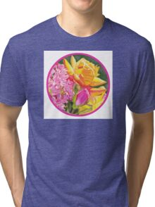 """Roses in Crystal, Circle"" Tri-blend T-Shirt"