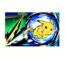 Pikachu | Volt Tackle Art Print