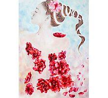La Fleur Rouge Photographic Print