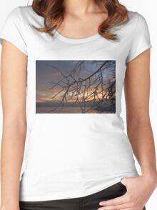 A Sunrise Through Icy Branches Women's Fitted Scoop T-Shirt