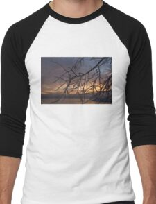 A Sunrise Through the Icy Branches Men's Baseball ¾ T-Shirt