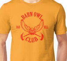 Barn Owl Barbell Club Red Unisex T-Shirt