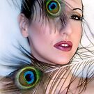 Feathered Beauty - Self Portrait by Jaeda DeWalt