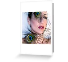 Feathered Beauty - Self Portrait Greeting Card