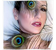 Feathered Beauty - Self Portrait Poster