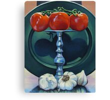 Tomato and Garlic Canvas Print