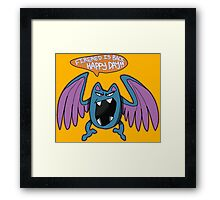 Game Grumps Golbat Framed Print