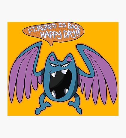 Game Grumps Golbat Photographic Print