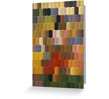 Yellow Red Blocks Geometric Art Greeting Card