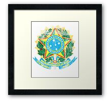 Brazilian Coat of Arms Brazil Symbol Framed Print