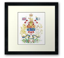 Canadian Coat of Arms Canada Symbol Framed Print