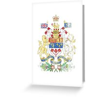 Canadian Coat of Arms Canada Symbol Greeting Card