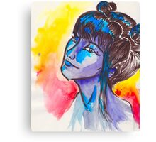Lady In The Water(Color) Canvas Print