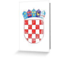 Croatian Coat of Arms Croatia Symbol Greeting Card