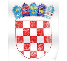 Croatian Coat of Arms Croatia Symbol Poster