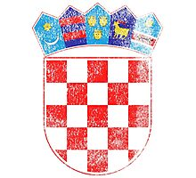 Croatian Coat of Arms Croatia Symbol Photographic Print
