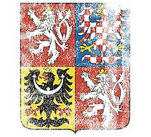 Czech Coat of Arms Czech Republic Symbol Photographic Print