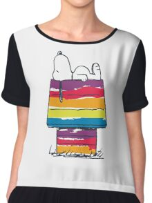 rainbow snoop Chiffon Top