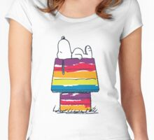 rainbow snoop Women's Fitted Scoop T-Shirt