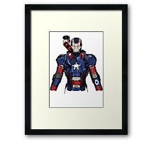 Iron Patriot Suit Framed Print