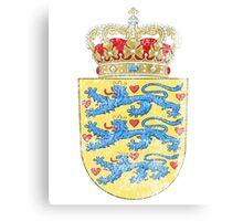 Danish Coat of Arms Denmark Symbol Canvas Print