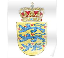 Danish Coat of Arms Denmark Symbol Poster