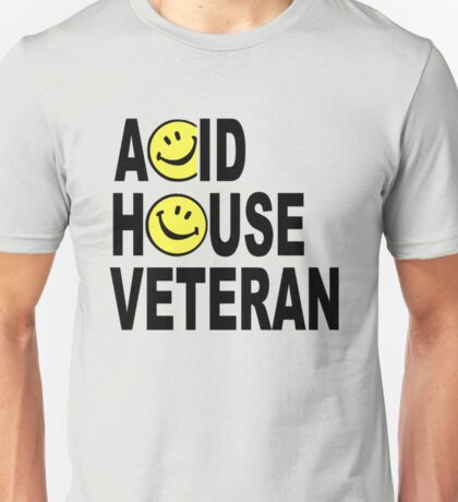 Acid House Veteran Smiley Logo Unisex T-Shirt