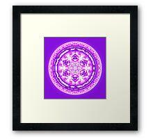 Crown Chakra Mandala Framed Print