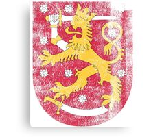Finish Coat of Arms Finland Symbol Canvas Print