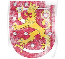 Finish Coat of Arms Finland Symbol Poster