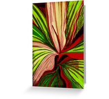 Striped Leaves Greeting Card