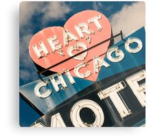 Heart of Chicago 1 Metal Print
