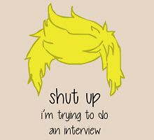 shut up i'm trying to do an interview - Niall Womens Fitted T-Shirt