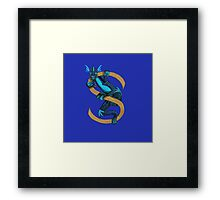 Animal Alphabet letter S - Suiko Framed Print