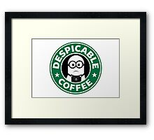 Despicable Coffee Framed Print