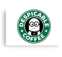 Despicable Coffee Canvas Print