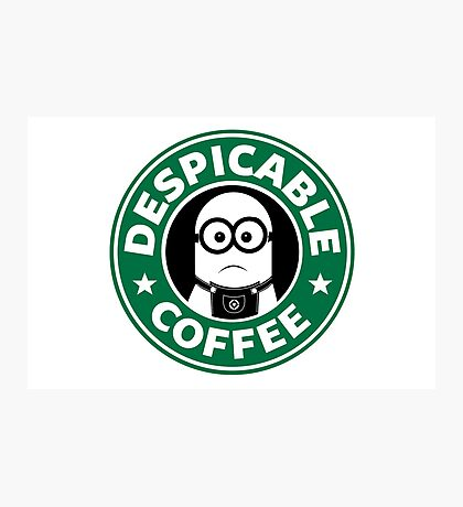 Despicable Coffee Photographic Print