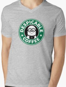 Despicable Coffee Mens V-Neck T-Shirt