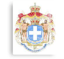 Greek Coat of Arms Greece Symbol Canvas Print