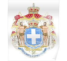 Greek Coat of Arms Greece Symbol Poster