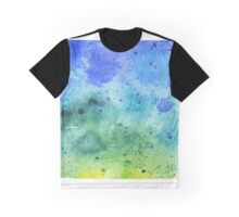 Watercolor Map of Colorado, USA in Blue and Green - Giclee Print of My Own Watercolor Painting Graphic T-Shirt