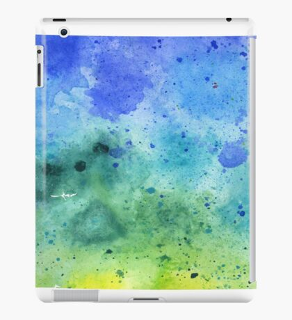 Watercolor Map of Colorado, USA in Blue and Green  iPad Case/Skin