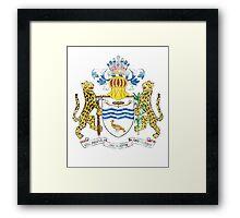 Guyanese Coat of Arms Guyana Symbol Framed Print