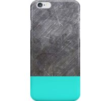 teal metal iPhone Case/Skin