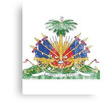 Haitian Coat of Arms Haiti Symbol Canvas Print