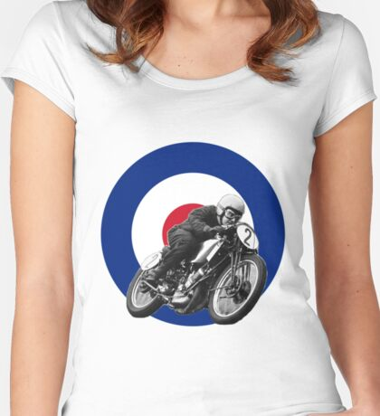 Classic UK Motorcycle Racing Women's Fitted Scoop T-Shirt